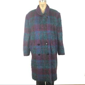 Oleg Cassini Couture mohair double breasted coat M